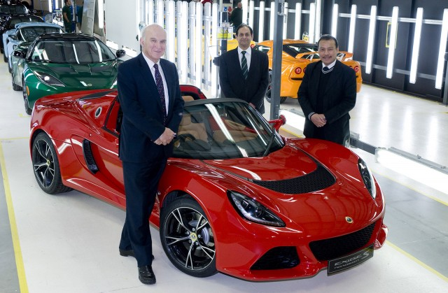British politicians visit Lotus factory in Hethel, England