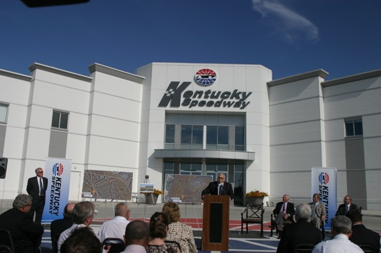 Bruton Smith at Kentucky Speedway