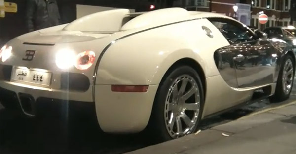 Bugatti Veyron curbs wheel while parking