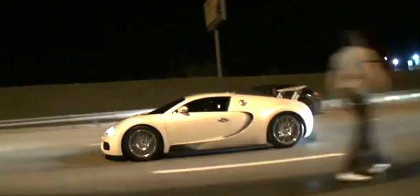 Bugatti Veyron street racing Nissan GT-R