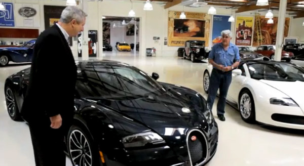 bugatti veyron super sport touches down in jay leno s garage video. Black Bedroom Furniture Sets. Home Design Ideas