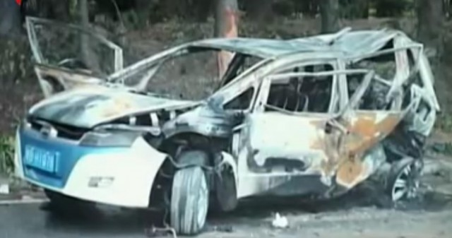 BYD e6 Fire: Aftermath