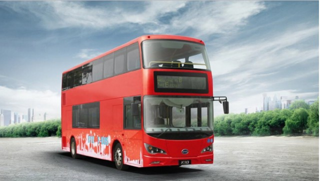 BYD London double-decker bus