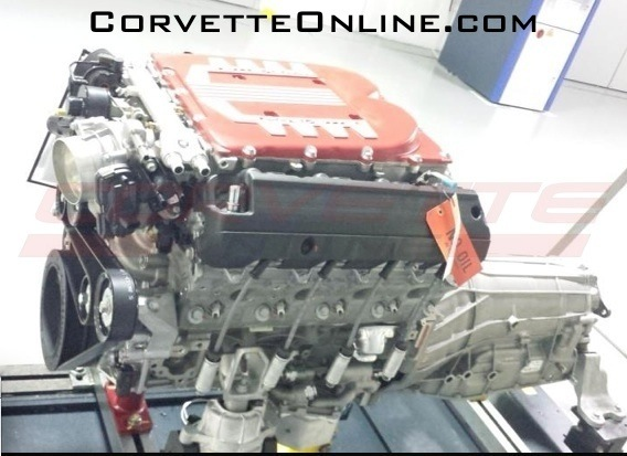 Alleged supercharged V-8 from the C7 Corvette Z06/ZR1 - Image via Corvette Online