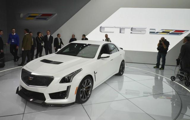 2016 Cadillac CTS-V live photos, 2015 Detroit Auto Show