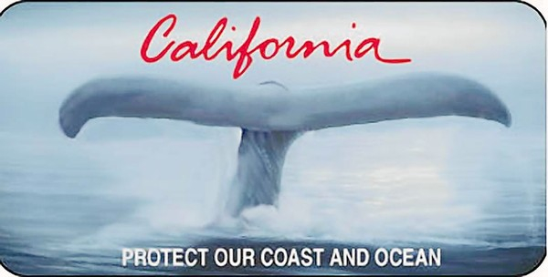California's Old Whale Tail Plate. Image: California Coastal Commission