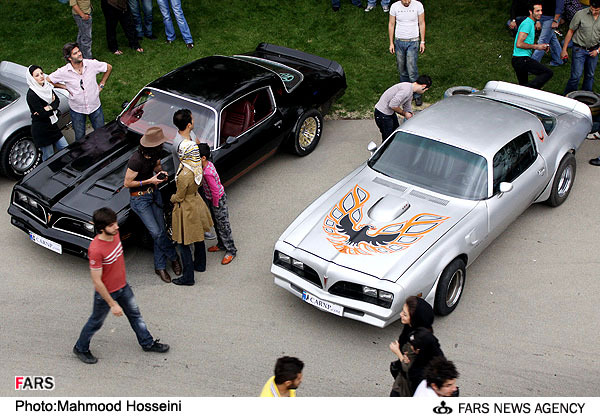 Camaro and Firebird club meet in Tehran, Iran