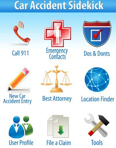 Car Accident Sidekick app from the American Lawyer Academy