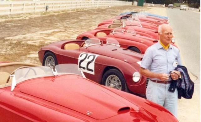 Carlo Felice Bianchi Anderloni with Ferrari 166 MM Touring Barchettas