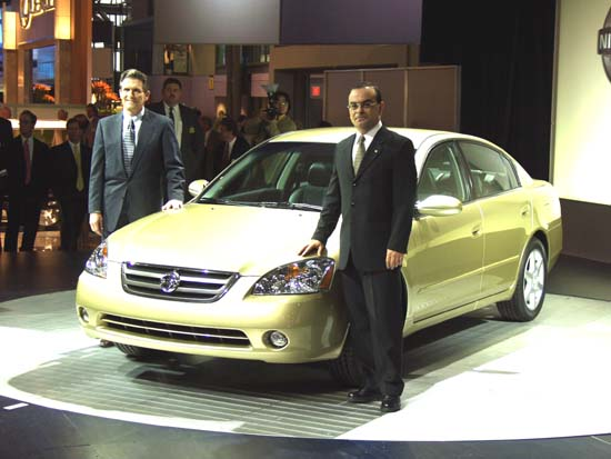 Carlos Ghosn 2001 New York Auto Show