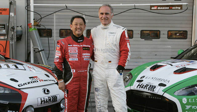 CEOs of Toyota and Aston Martin - Akio Toyoda and Dr. Ulrich Bez