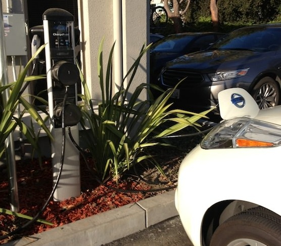 ChargePoint electric-car charging station at Nest Labs, Palo Alto, CA