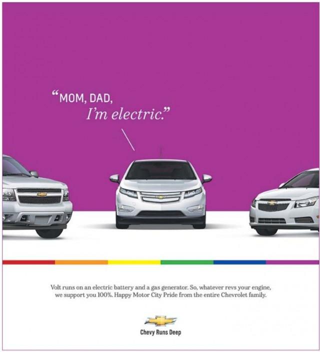 Chevrolet ad in the 2012 Motor City Pride program
