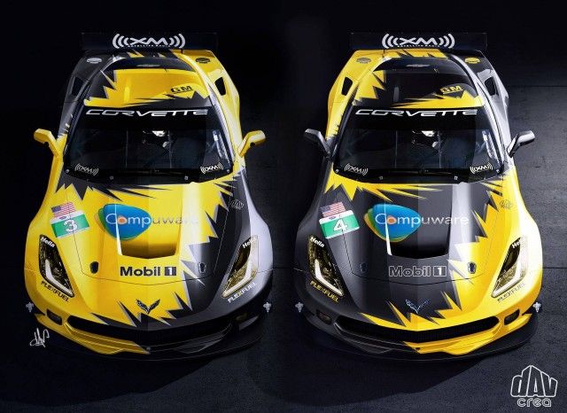 Chevrolet Corvette C7.R in full race livery
