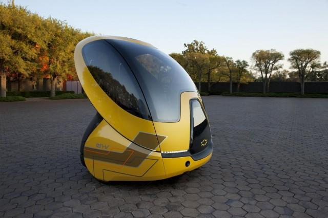 Chevrolet EN-V Concept, autonomous two-seat urban electric car, October 2011