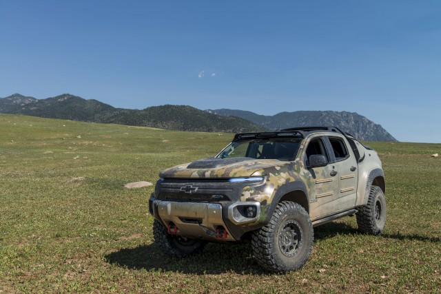 Chevrolet Colorado ZH2 hydrogen fuel-cell electric vehicle