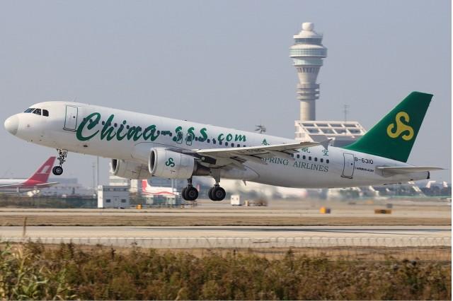 China's Spring Airlines (photo by Shimin Gu via Wikimedia)