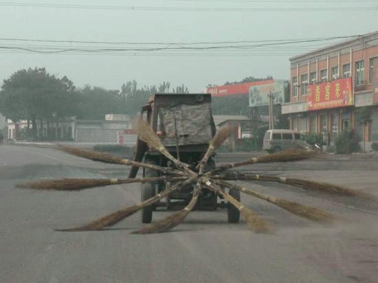 Chinese homebrewed street-sweeper
