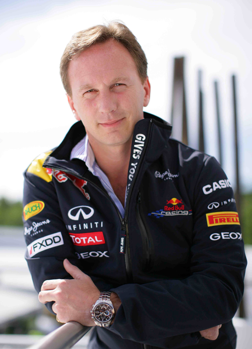 Christian Horner photo courtesy Casio