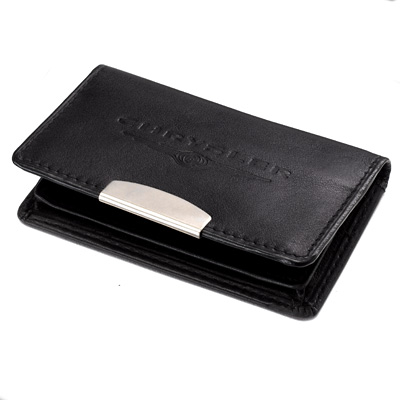 Chrysler Nappa Leather Hinged Business/Credit Card Holder