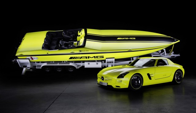 Cigarette AMG Electric Drive boat concept inspired by the Mercedes-Benz SLS AMG Electric Drive