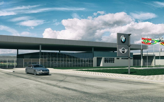 Computer-generated image of future BMW plant in Araquari, Brazil