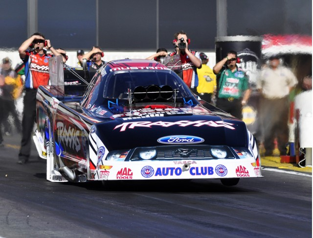 Courtney Force's first Funny Car pass - Anne Profit photo