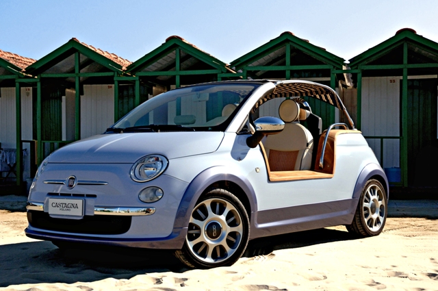 Custom Fiat 500 - Similar to Gathafi's electric 500