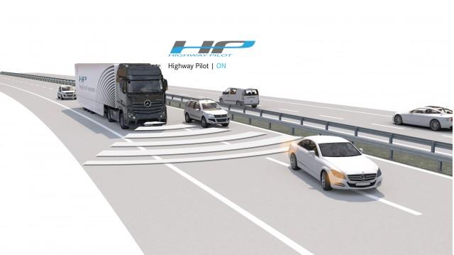 Daimler Trucks testing the first series-production autonomous truck on public roads