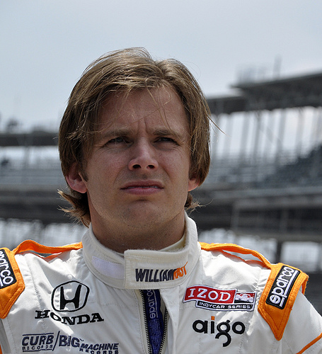 Dan Wheldon at Indianapolis Motor Speedway. Photo: Anne Proffit