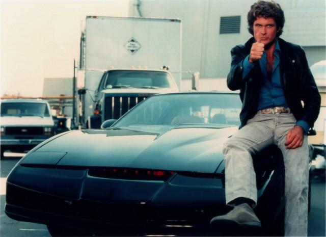 David Hasselhoff and KITT from Knight Rider