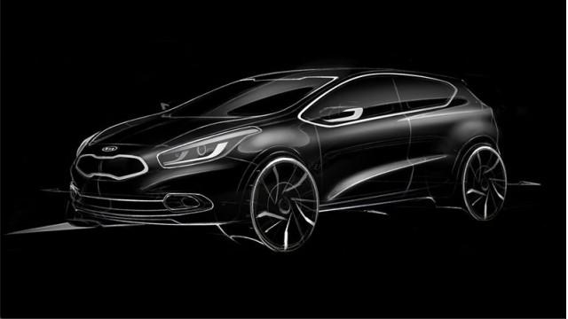 Design sketch of the next Kia Pro Cee'd.