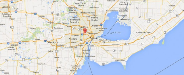 Detroit (via Google Maps)