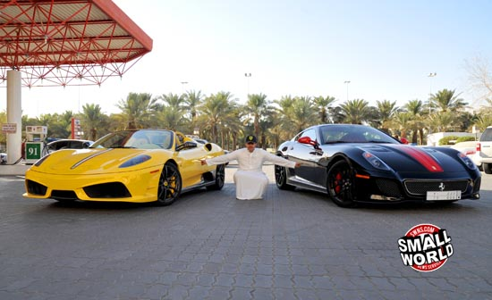 Dhiaa Al-Essa and his two latest Ferraris including a new 599 GTO