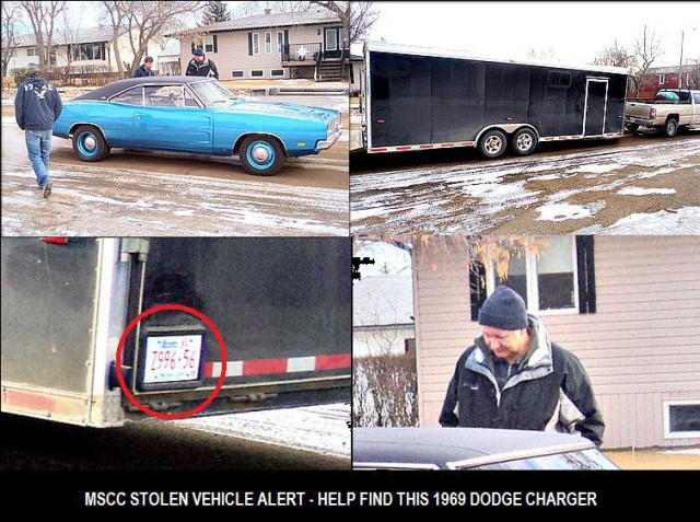 Help Find This Stolen 1969 Dodge Charger