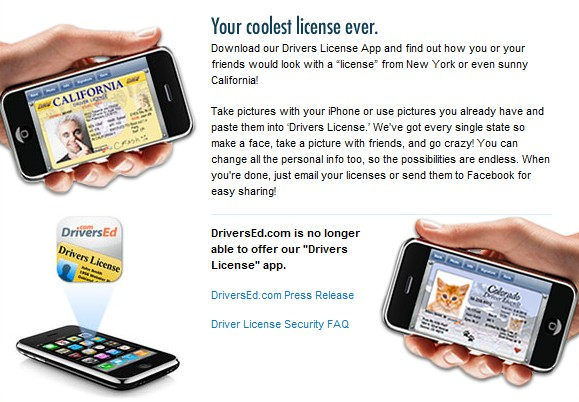 DriversEd.com's Driver's License app for iPhone, iPad, iPod