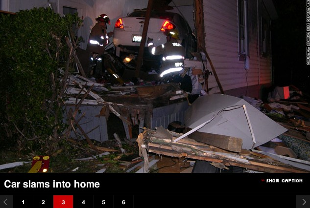 Drunk driver plows into the wrong house [via CNN]