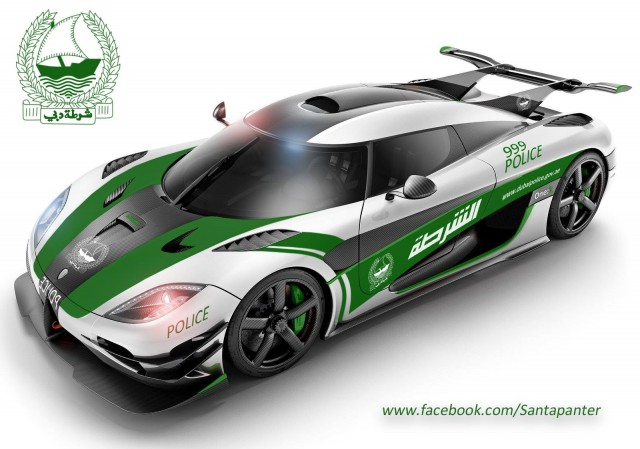 Dubai Police Koenigsegg One:1 rendering by Santapanter Photography.