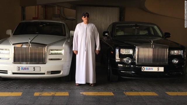 "Dubai resident Balwinder Sahni paid $9 million for ""5"" license plate - Image via CNN"