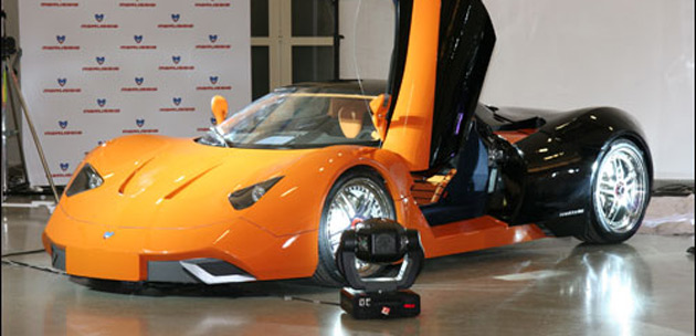 The E.M.M. Marussia will accelerate from 0-100km/h in about 5 seconds and reach a top speed of 250km/h