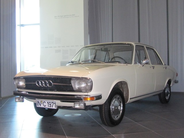 early Audi 100 in Audi Museum, Ingolstadt, Germany
