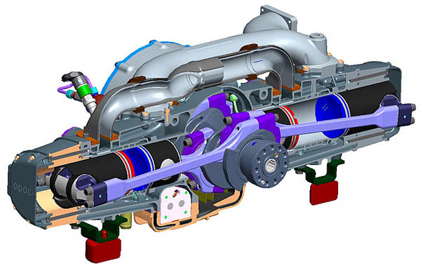 to build ecomotors efficient opposed piston engines ecomotors opoc engine diagram