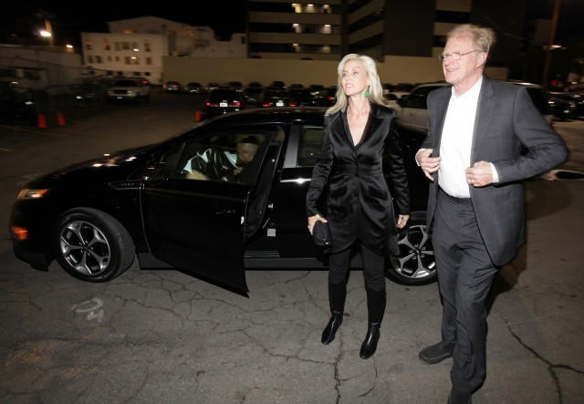 Ed Begley Jr. arrives at pre-Oscar event in a Chevy Volt