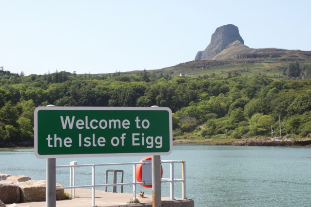 Eigg, an island in Hebrides off the coast of Scotland. [Photo by Flickr user kevinzim]