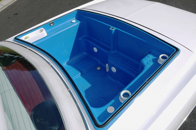 Eight-wheeled 1977 Cadillac Eldorado Biarritz. Images via Shannons.au