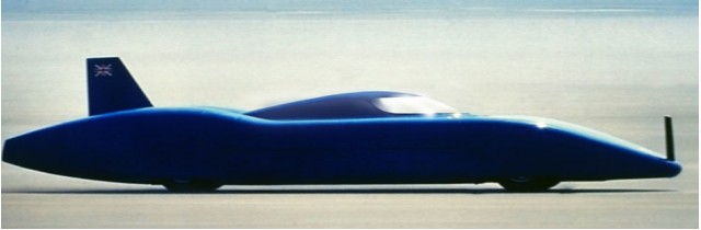 Electric Bluebird Land Speed Record Car