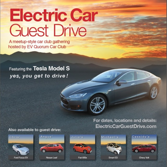 Electric Car Guest Drive events in California