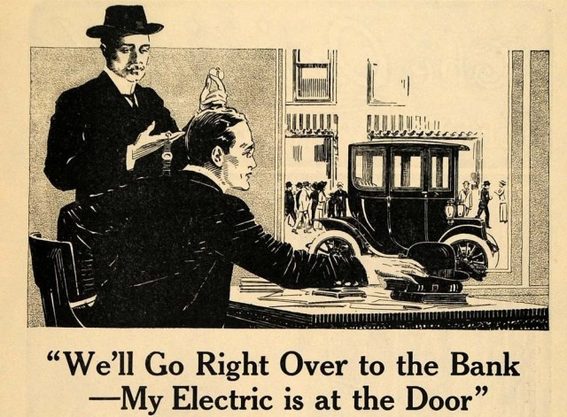 Electric Vehicle Association ad, 1912 (detail)