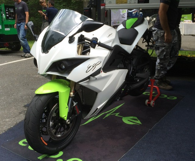 Energica Ego electric motorcycle, test ride, Bear Mountain, NY, July 2014