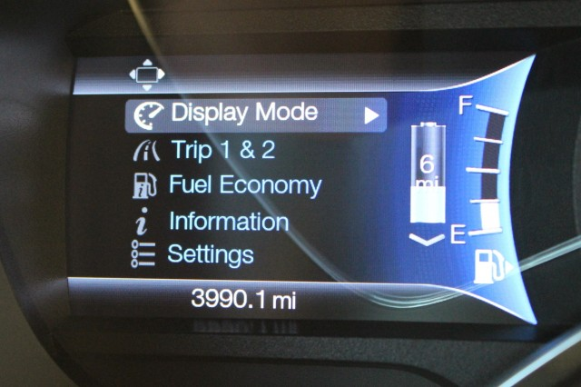 Energy use display menus  -  Ford EcoGuide gauge cluster  -  2013 Ford C-Max Energi